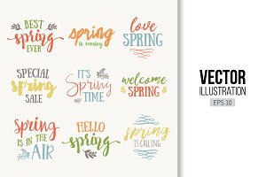 Spring Time hand drawn lettering