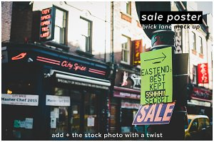 add + saleposter 7 brick lane mockup