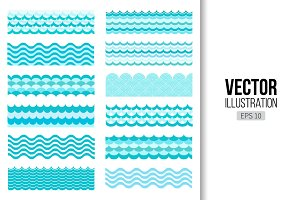Ocean and sea vector wave texture
