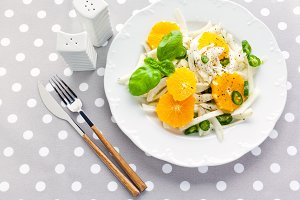 fresh salad with fennel, orange