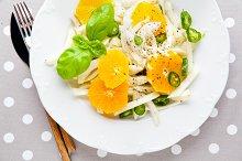 fresh salad with fennel, orange