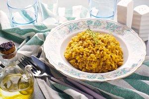 risotto alla Milanese with saffron