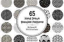 99% OFF! 65 Monochrome Patterns
