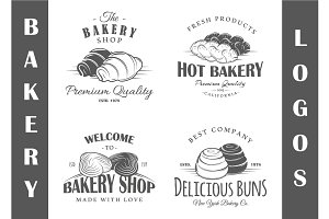 4 Bakery Logos Templates Vol.3