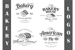 4 Bakery Logos Templates Vol.2