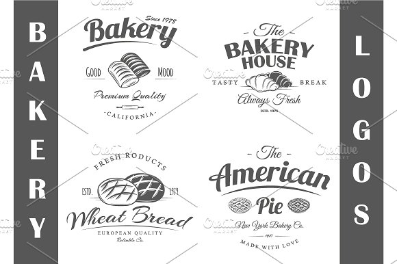 4 Bakery logos templates Vol.2 - Logos