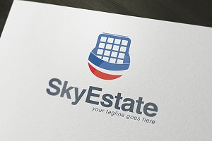 Sky Estate Logo Template