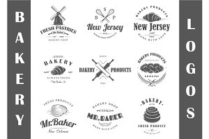 9 Bakery Logos Templates Vol.1