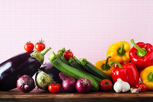 Assortment of fresh vegetables.