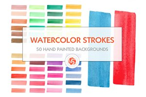 Hand painted watercolor stripes