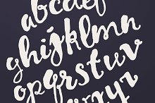 Vector hand drawn calligraphic font