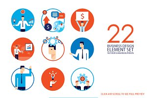 22 Businessman & Business elements