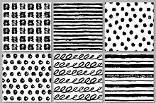 6 seamless patterns. AI, JPEG, PNG