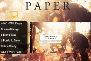 Paper - Creative HTML Template