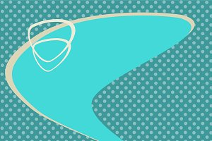 Turquoise abstract retro background