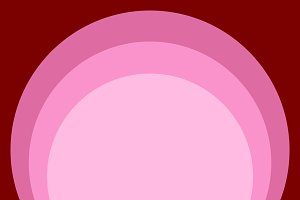 Red pink circle retro background