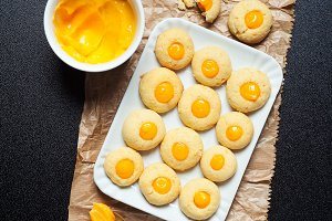 homemade biscuits with lemon