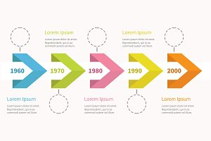 Five step timeline infographic