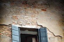 Bella Italia series. Venice - the Pearl of Italy. Window of an old Venice hose. Venice, Italy.
