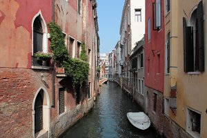 Bella Italia series. Venice - the Pearl of Italy. Street in Venice.
