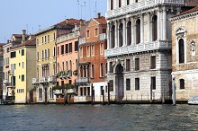 Bella Italia series. Venice - the Pearl of Italy. Venetian houses in a Grand Canal. Venice, Italy.
