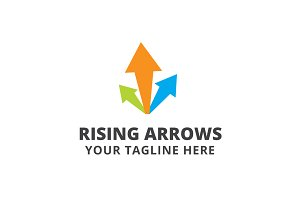 Rising Arrows Logo Template
