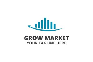 Grow Market Logo Template