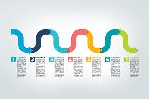 Timeline arrow.