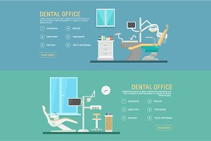 Flat banners - dental office
