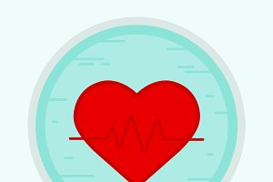 Cardiology icon. Vector