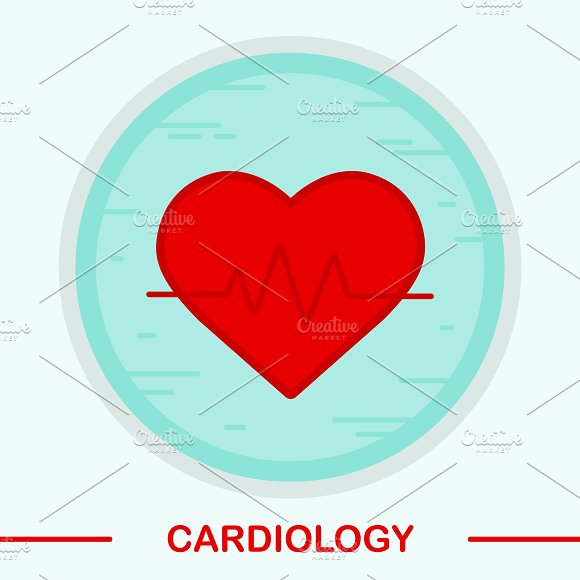 Cardiology icon. Vector - Icons