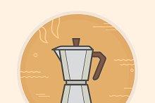Coffee maker icon. Vector