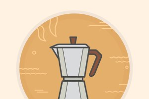 Coffee maker icon. Vector