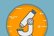 Microscope icon. Vector