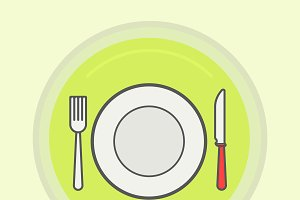 Restaurant icon. Vector