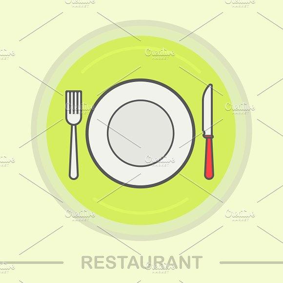 Restaurant icon. Vector - Icons