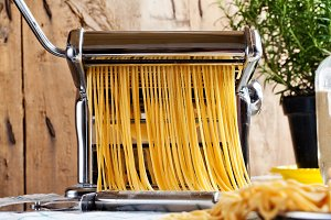 fresh homemade spaghetti