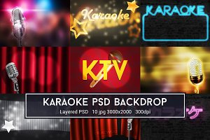 Karaoke PSD Backdrop