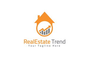 Real Estate Trend Logo Template