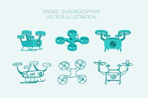 Drone quadrocopters different types
