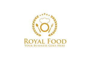 Royal Food Logo Template