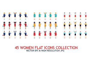 45 Women Icons collection