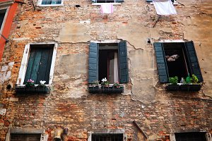 Old house in Venice. Italy.
