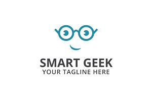 Smart Geek Logo Template