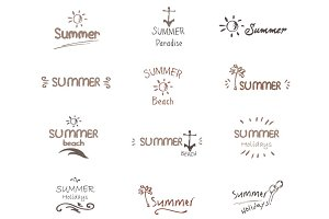 Summer Typography Labels, Logo