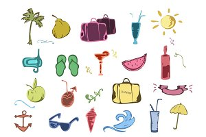 Hand drawn Summer Icons
