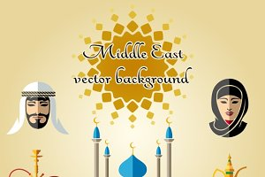Arab vector background