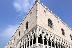 Doge's Palace by St. Mark's Square, Venice. Veneto, Italy