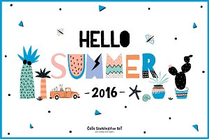 Hello Summer cards & posters