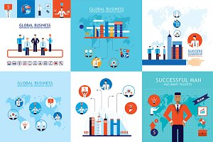 10 Business Concept Banner Set